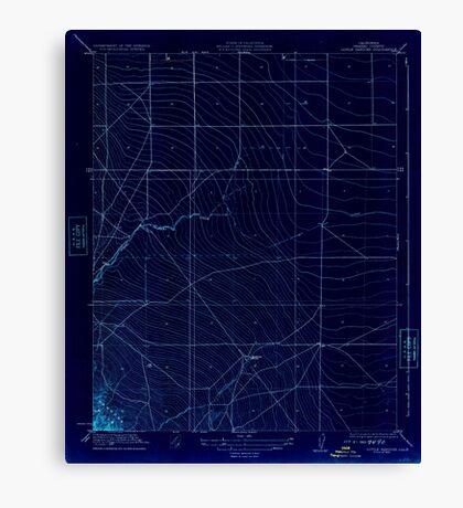 USGS TOPO Map California CA Little Panoche 296253 1923 31680 geo Inverted Canvas Print