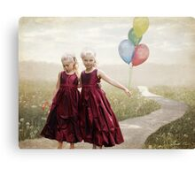 Our hearts say we're friends Canvas Print