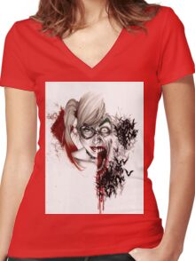 HQ2 Women's Fitted V-Neck T-Shirt