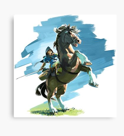 Zelda Breath Of The Wild (LINK/HORSE) Nintendo Switch Canvas Print
