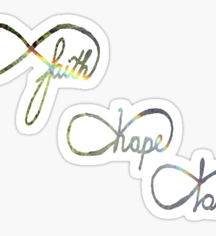faith hope and love infinity sign Sticker