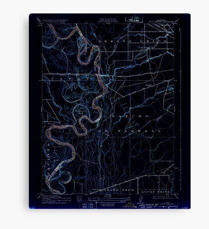 USGS TOPO Map California CA Chico Landing 295994 1912 31680 geo Inverted Canvas Print