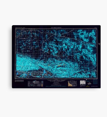 USGS TOPO Map California CA San Bernardino 299869 1956 250000 geo Inverted Canvas Print