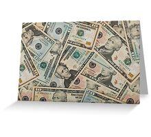 Dollar bills Greeting Card