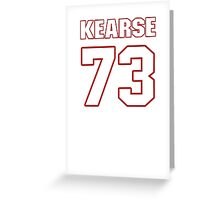 NFL Player Frank Kearse seventythree 73 Greeting Card