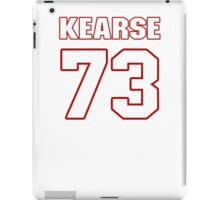 NFL Player Frank Kearse seventythree 73 iPad Case/Skin
