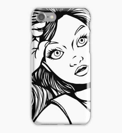 Selfie- lineart iPhone Case/Skin