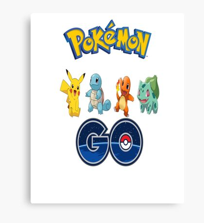 Pokemon Go Canvas Print