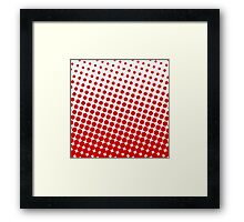 Red Dots on White Pattern Print Framed Print