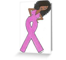 Afrian American Breast Cancer Cards Greeting Card