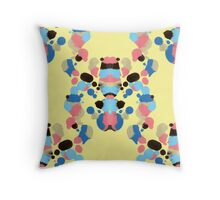 Abstract Rorschach pattern Throw Pillow