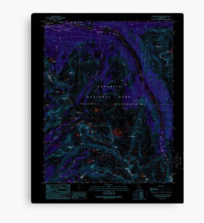 USGS TOPO Map California CA Vogelsang Peak 295628 1990 24000 geo Inverted Canvas Print