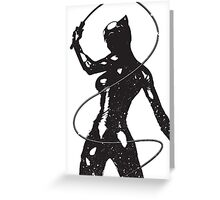 Supervillian Silhouette Prints Greeting Card