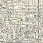 Vintage Map of Detroit by Bethany Helzer