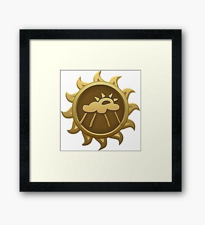 Glitch Giants emblem cosma Framed Print