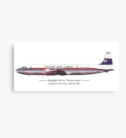 JAL Douglas DC7 Canvas Print