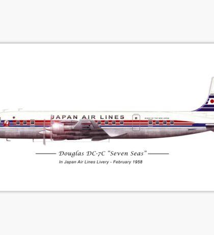 JAL Douglas DC7 Sticker