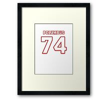 NFL Player Tyler Polumbus seventyfour 74 Framed Print