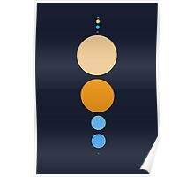 Planets To Scale (vertical) Poster
