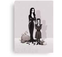 Morticia and Wednesday Canvas Print