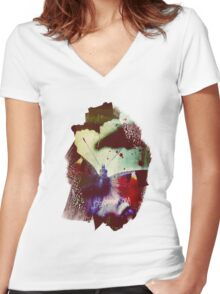Fear of Butterflies Women's Fitted V-Neck T-Shirt