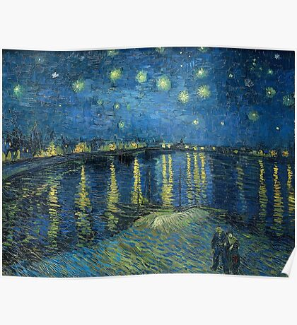 Starry Night Over the Rhône by Vincent van Gogh Poster