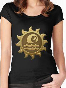 Glitch Giants emblem grendaline Women's Fitted Scoop T-Shirt