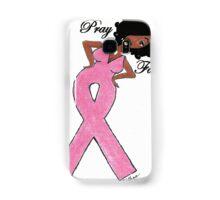 AFRICAN AMERICAN BREAST CANCER T-SHIRT DARK SKIN Samsung Galaxy Case/Skin
