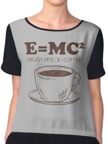 E MC Energy Milk Coffee Chiffon Top