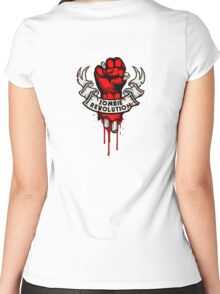 Zombie Revolution! -red- Women's Fitted Scoop T-Shirt