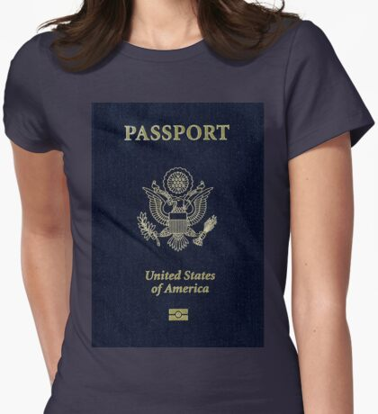 Make America Great Again USA Passport Womens Fitted T-Shirt