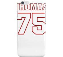 NFL Player Robert Thomas seventyfive 75 iPhone Case/Skin