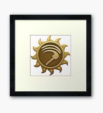 Glitch Giants emblem mab Framed Print