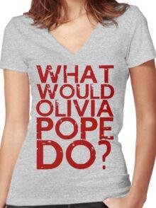 scandal Women's Fitted V-Neck T-Shirt
