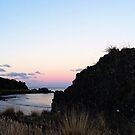 Sunset over Doctors Rocks by Judi Rustage