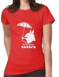 totoro cute adorable Womens Fitted T-Shirt