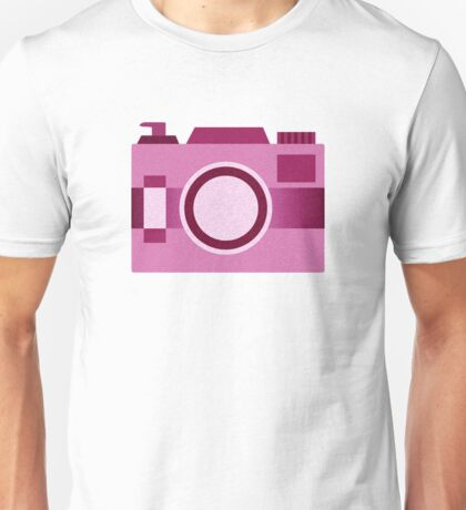 Retro Old-Time Camera, Pink Unisex T-Shirt