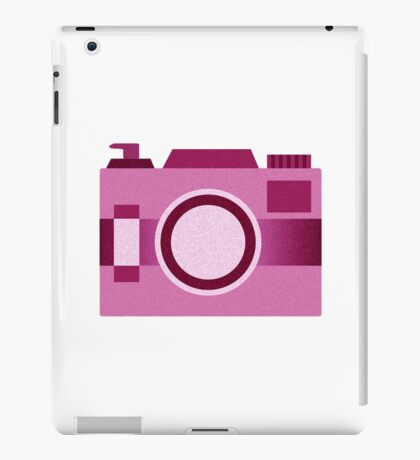 Retro Old-Time Camera, Pink iPad Case/Skin
