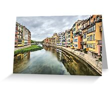 The Houses on the River Onyar (Girona, Catalonia) Greeting Card
