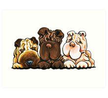 Shar Pei Trio Art Print