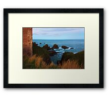 North Sea, Cruden Bay - From Slains Castle - North East coast of Aberdeenshire, Scotland Framed Print