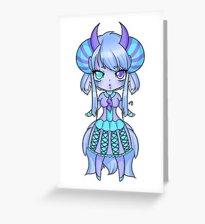 Chibi Demon - Lyri Greeting Card