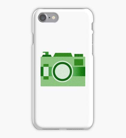 Retro Old-Time Camera, Green iPhone Case/Skin