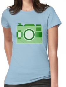 Retro Old-Time Camera, Green Womens Fitted T-Shirt