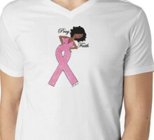 African American Breast Cancer T-shirts Mens V-Neck T-Shirt