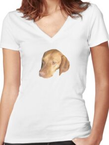 Stella - The Worlds Most Done Dog Women's Fitted V-Neck T-Shirt