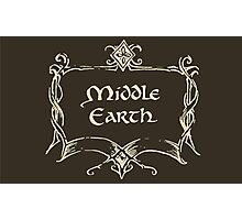 Middle Earth Photographic Print