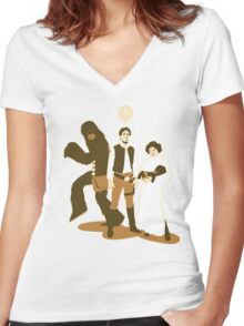 Princess Leia - Carrie Fisher - Star Wars Women's Fitted V-Neck T-Shirt