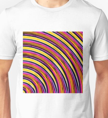 pink purple brown yellow orange circle line pattern abstract background Unisex T-Shirt