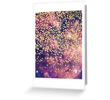 Gold-Flecked Galaxy Greeting Card